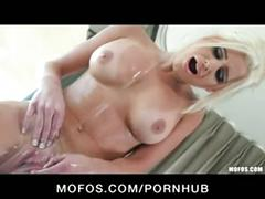 Hot blonde spencer scott plays with big tits & pussy in bath
