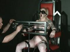 Angels tower of pain tit torture and extreme bondage of blonde slavegirl