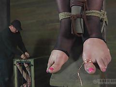 bdsm, big tits, stockings, tied up, pussy torture, blonde milf, clamps, electricity, real time, bondage box, real time bondage, cherie deville, cherie deville, real time bondage, kinkster cash