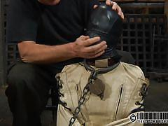 milf, bdsm, domination, mask, brunette, tied up, barn, in chains, chain collar, real time, real time bondage, elise graves, elise graves, real time bondage, kinkster cash