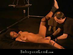 Isabella crystin tied up while getting exploited