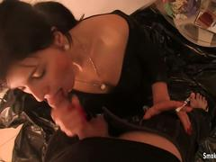 Pvc blowjob smoking lesson