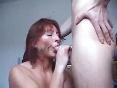 Pierced nipple and pussy milf sex and facial