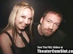 Cum slut zoe gets jizz coated & creampied in public porn theater
