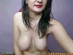 From [2hotdamn.com] - cute webcam girl with big natural tits live-show