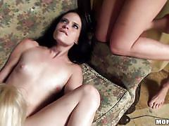 Brunette bitches enjoy fucking hard