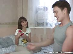 Cute teen olesya picked up and drilled hard