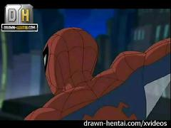 Superhero porn - spider-man vs batman