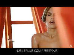 Nubile films - writhing with pleasure from her lesbian lover