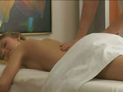 Hot massage with sexy girl
