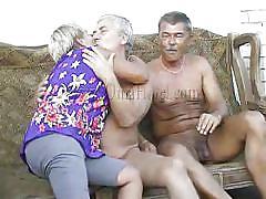 threesome, granny, couch, old farts, undressing, tits groping, oma hotel, old nanny, heidrun, heidrun, oma hotel, oma cash