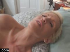 Sexy mommy emy banx toying and hot blowjob