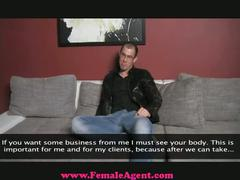 Young stud visits female agent!!