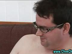 Femdom cfnm cock handjob cumshot