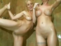 2 sexy girls take shower and wash each other on live cam