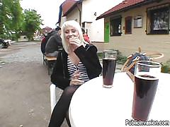 small tits, milf, blonde, money talks, public, pov blowjob, toilet, cafe, pick up, sucking finger, restroom, tits flash, public invasion, lenka xx, lenka xx, public invasion, bang bros