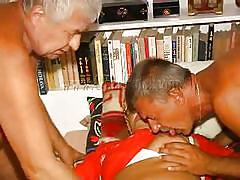 Old farts making a threesome with granny