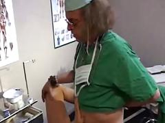 Old doctor fucks young patient