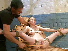 milf, blonde, bdsm, spanking, screaming, tied up, pussy torture, ropes, bastonnade, the training of o, kink, penny pax, penny pax, the training of o, kinky dollars