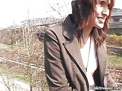 mature, money talks, outdoor, stockings, fucking, brunette, pick up, sucking fingers, public invasion, nikol xxx, nikol xxx, public invasion, bang bros