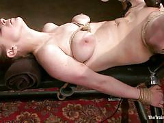 milf, blonde, bondage, bdsm, vibrator, tied up, face slapping, anal fucking, ropes, squeezed tits, the training of o, kink, penny pax, rob blu, penny pax, rob blu, the training of o, kinky dollars