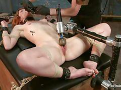 milf, bondage, bdsm, redhead, vibrator, tit torture, tied up, collar, clamps, bucket, the training of o, kink, claire robbins, claire robbins, the training of o, kinky dollars