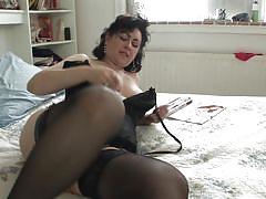 mature, solo, masturbation, stockings, dildo, big butt, brunette, pussy rubbing, bbw, mature eu, mature nl, virginia x, virginia x, mature eu, mature money