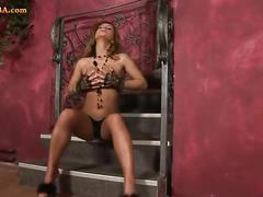 Sexy pornstar and her purple friend hd