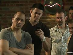 anal, bdsm, public, gangbang, gays, tied up, mouth fuck, from behind, bar, clothespins, bound in public, kink men, hayden richards, rob yaeger, will parks, hayden richards, rob yaeger, will parks, bound in public, kinky dollars