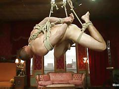 handjob, bondage, bdsm, hanging, gays, tied up, ropes, shibari, men on edge, kink men, jacques lavere, jacques lavere, men on edge, kinky dollars