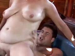 Mature gets a strong fuck