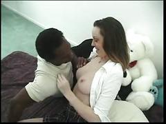 Schoolgirl likes a big black cock