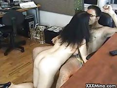 Sexy milf babe sucks cock on webcam