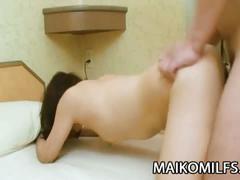 Horny japanese milf fucking her lover