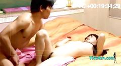 Asian girl licked fingered sucking guy in 69 on the...