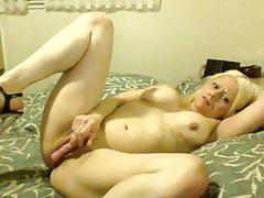 Barbie blaze doesn't stop she cums again in solo masturbation part 2