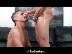 Devin rides cock in horny casting