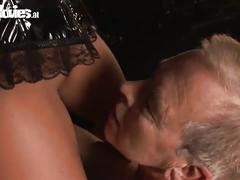 Teen and old-man gets bdsm treatment.