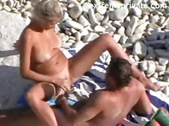 My 50 years mom and her lover on the beach