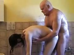 Mireck 80yo fucks claudia 24yo in shower