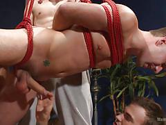 tattoo, bdsm, gays, tied up, gay handjob, gay group, rope bondage, men on edge, kink men, dylan knight, christian wilde
