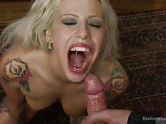 blonde, big tits, gangbang, blowjob, double penetration, tattooed, from behind, cum in mouth, hardcore gangbang, kink, tommy pistol, john strong, alex legend, gage sin, owen gray, vyxen steel