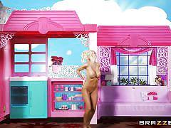 Blonde milf getting fucked in her barbie house