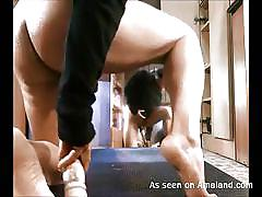 Solo deep anal masturbation