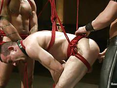 Two sex slaves obedient to their man