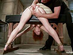 bdsm, redhead, vibrator, fingering, tied up, anal insertion, bent over, ropes, stick with dildo, mom, the training of o, kink, audrey hollander, audrey hollander, the training of o, kinky dollars