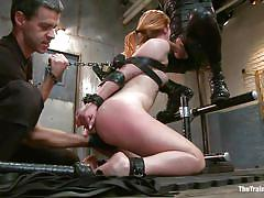 small tits, milf, bdsm, redhead, big cock, deepthroat, blowjob, fingering, tied up, leather belts, latex costume, the training of o, kink, owen gray, claire robbins, owen gray, claire robbins, the training of o, kinky dollars