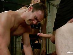 milf, blonde, threesome, femdom, bdsm, strapon, blowjob, from behind, sex slave, anal insertion, gay, divine bitches, kink, lea lexis, cameron kincade, wolf hudson, lea lexis, cameron kincade, wolf hudson, divine bitches
