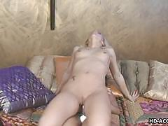shaved, lesbian, toys, small tits, licking, strapon