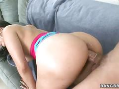 Hot latina valerie kay slobs on a fat cock